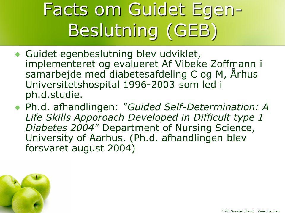 Facts om Guidet Egen-Beslutning (GEB)