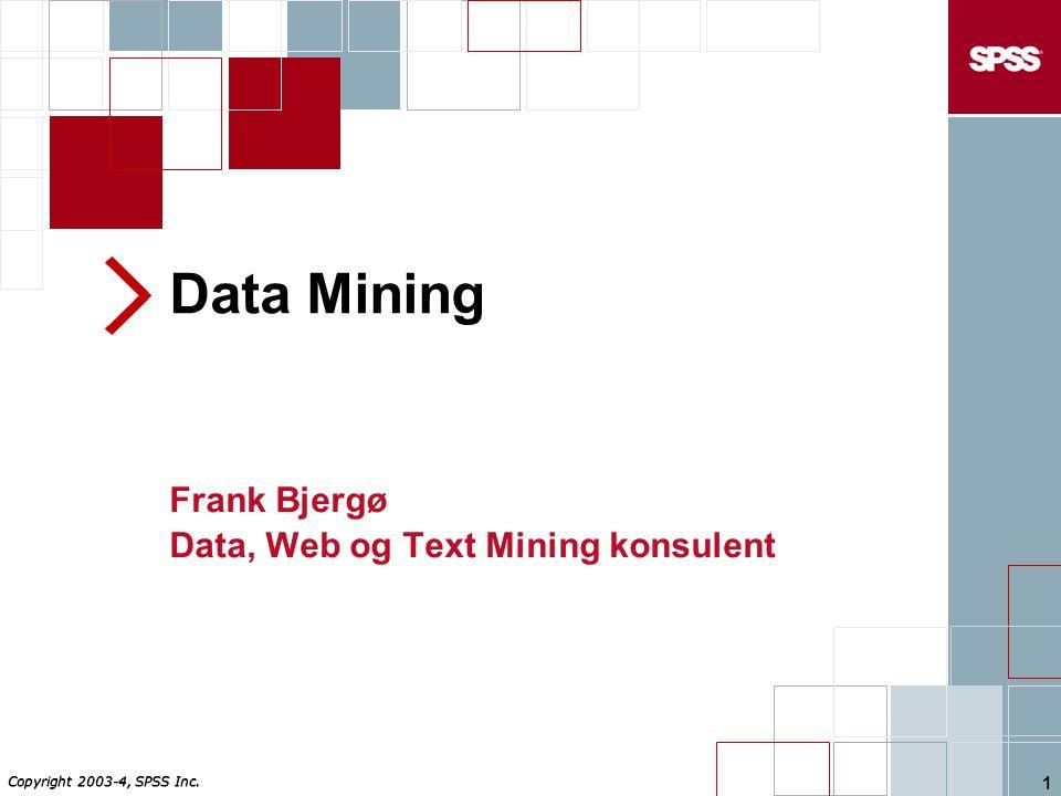 Frank Bjergø Data, Web og Text Mining konsulent