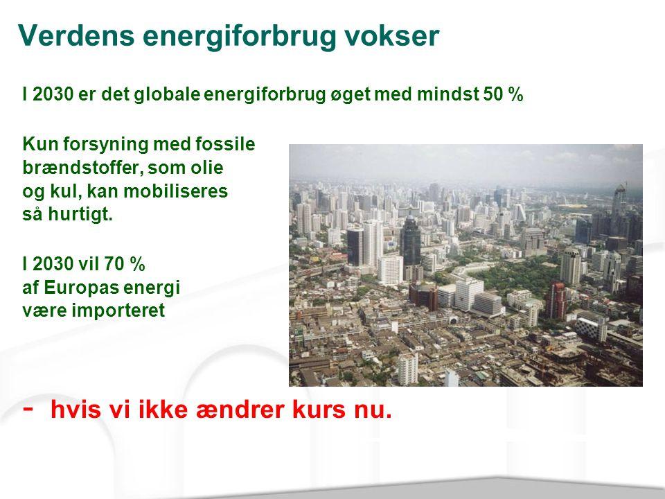 Verdens energiforbrug vokser