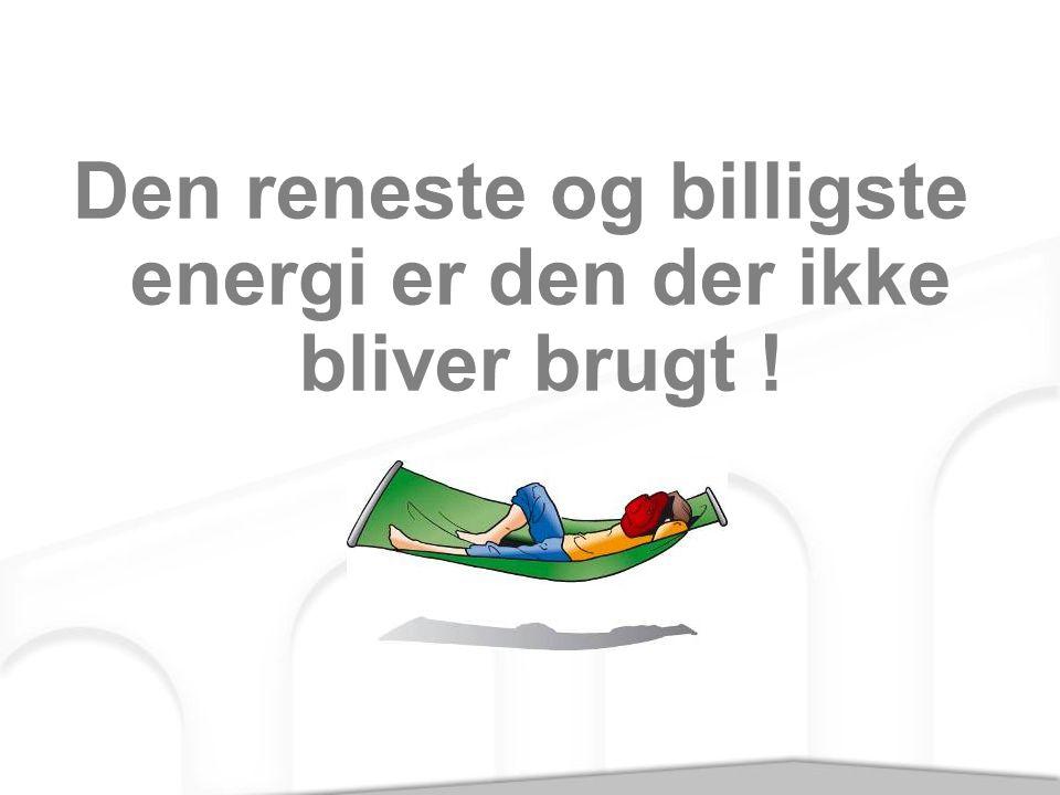 Den reneste og billigste energi er den der ikke bliver brugt !