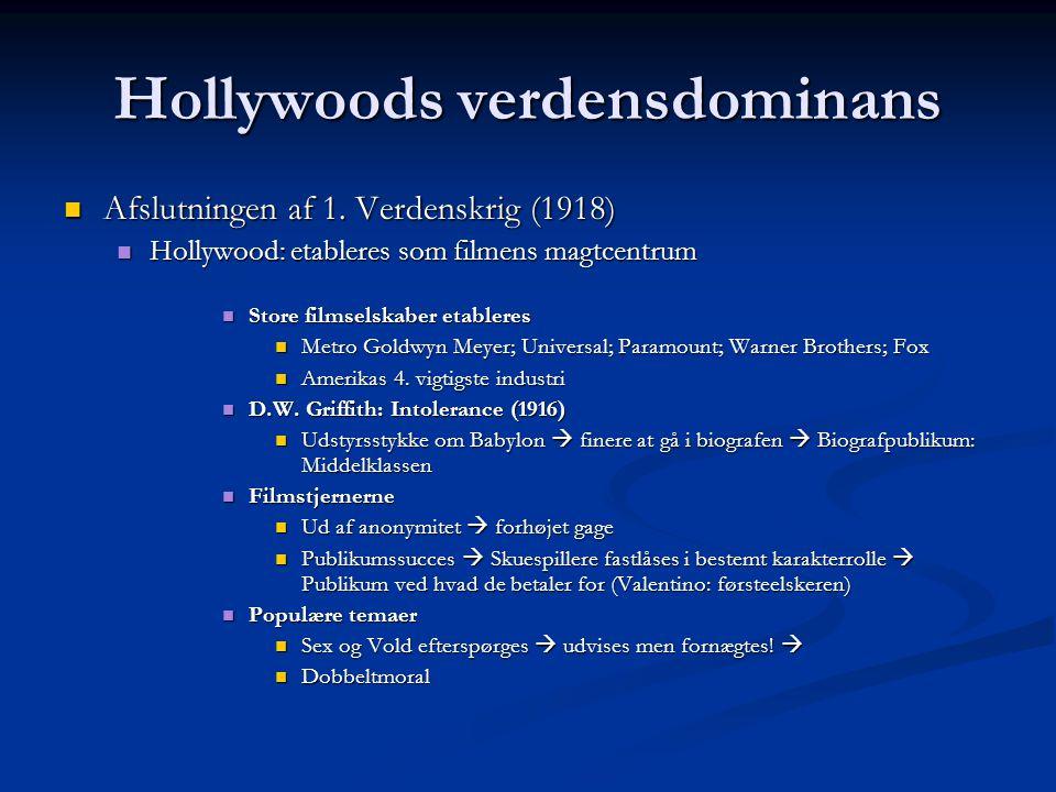 Hollywoods verdensdominans