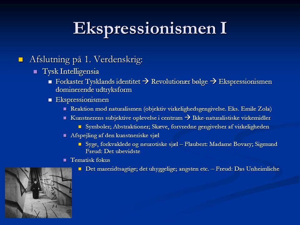 Ekspressionismen I Afslutning på 1. Verdenskrig: Tysk Intelligensia