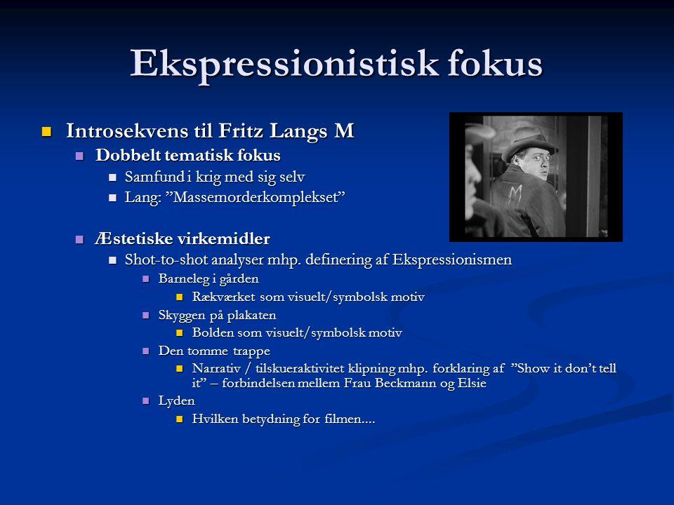 Ekspressionistisk fokus