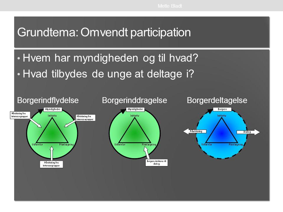 Grundtema: Omvendt participation