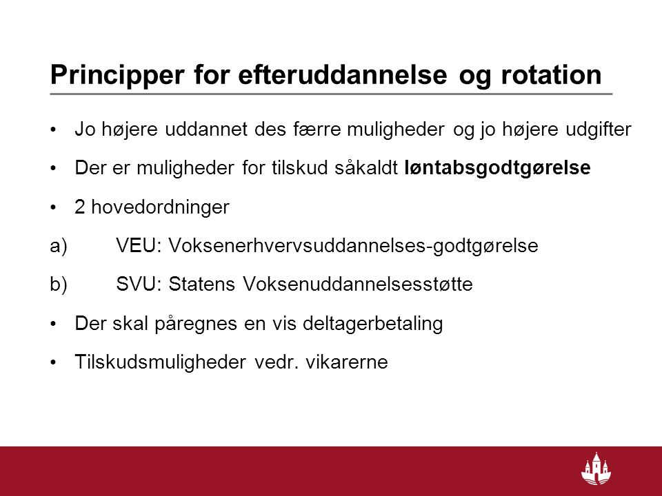Principper for efteruddannelse og rotation