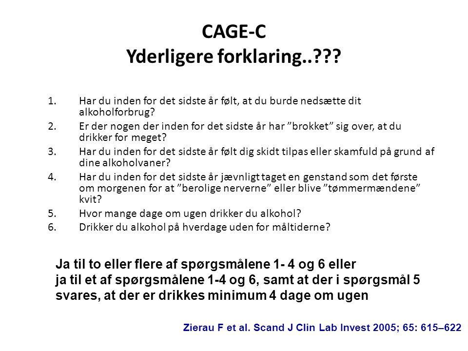 CAGE-C Yderligere forklaring..