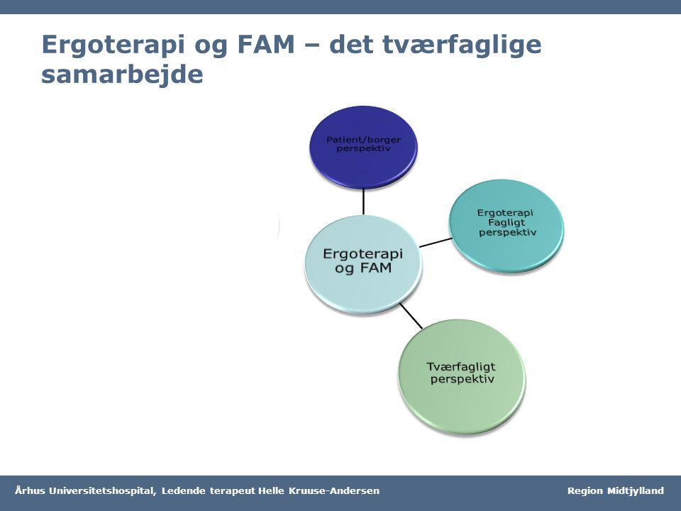 Ergoterapi og FAM – det tværfaglige samarbejde