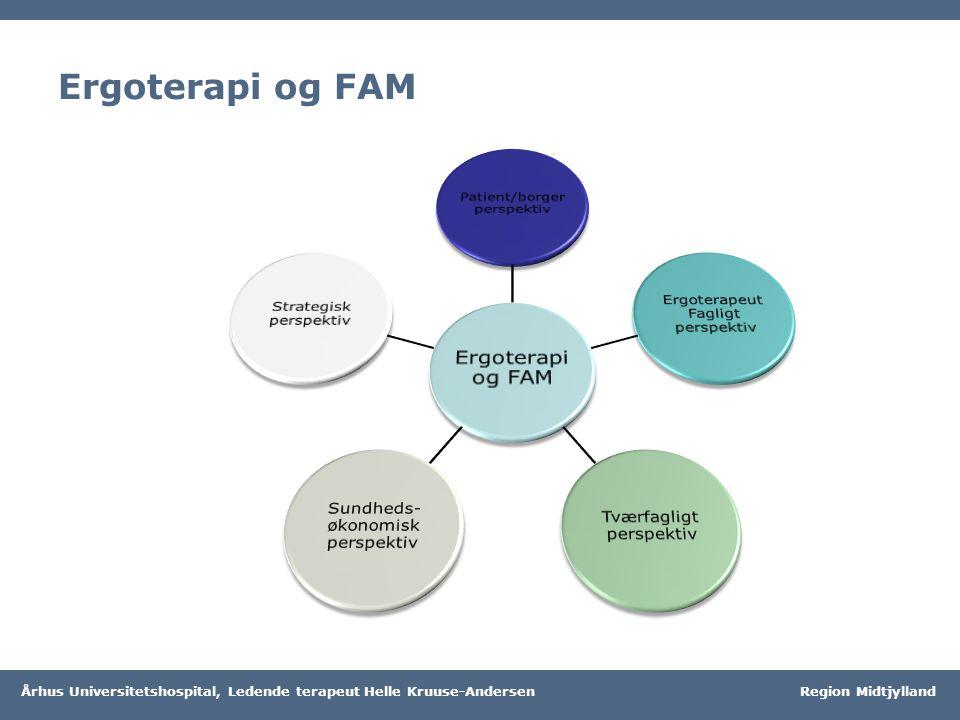 Ergoterapi og FAM Ergoterapi og FAM Patient/borger perspektiv