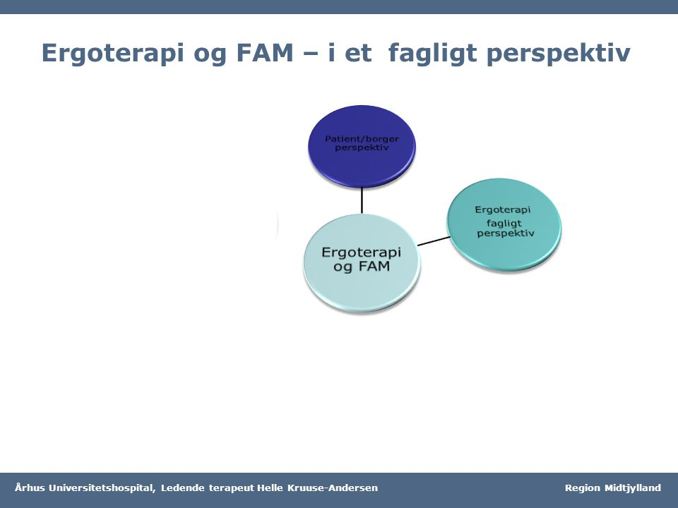 Ergoterapi og FAM – i et fagligt perspektiv