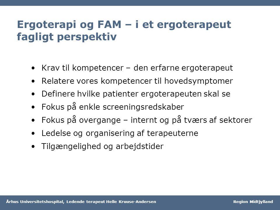Ergoterapi og FAM – i et ergoterapeut fagligt perspektiv