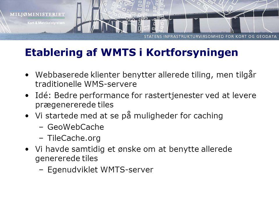 Etablering af WMTS i Kortforsyningen