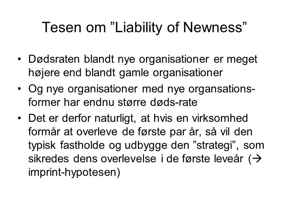 Tesen om Liability of Newness