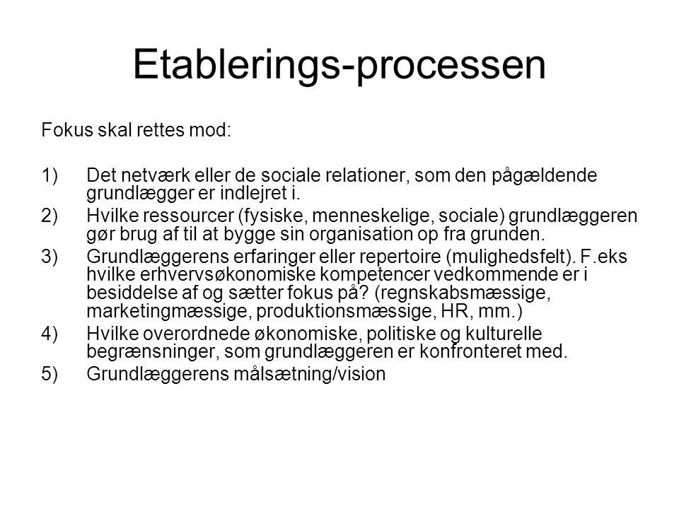 Etablerings-processen