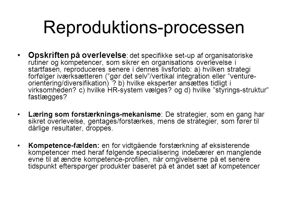 Reproduktions-processen