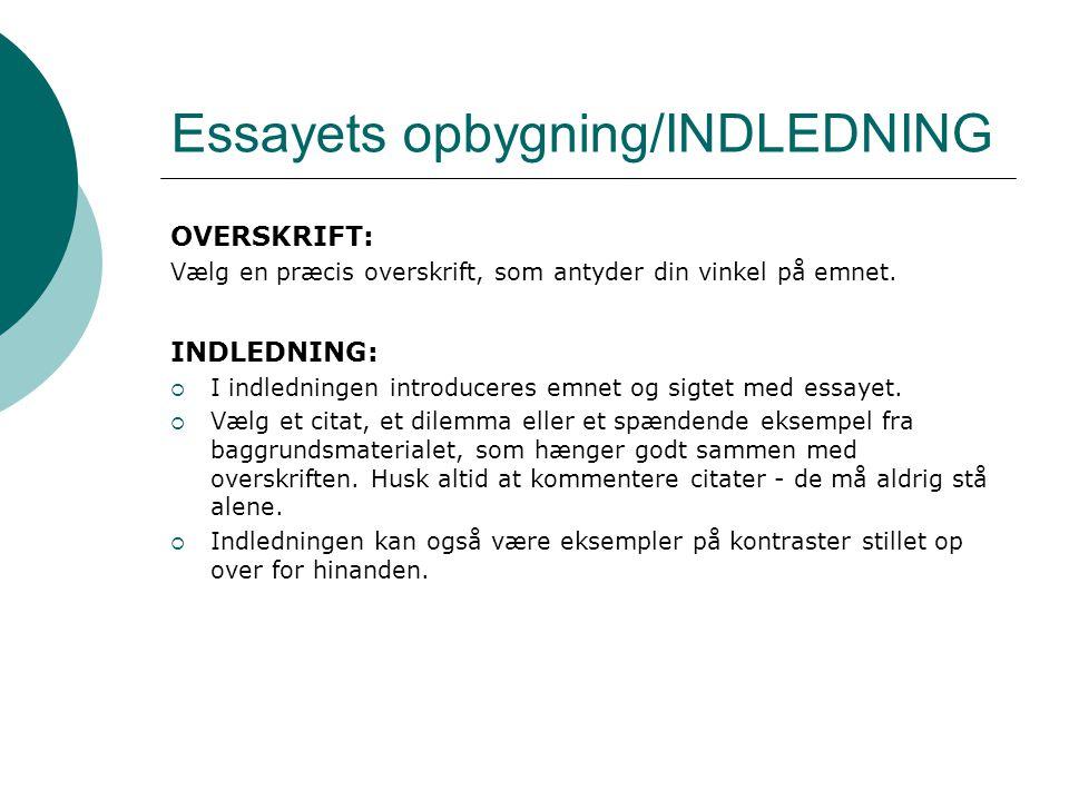 at skrive et godt essay Mange elever har erfaringsmæssigt også vanskeligt ved at skrive et godt essay, skriftlig dansk essay | analysesiden hvad er et essay, og hvordan skriver man et.