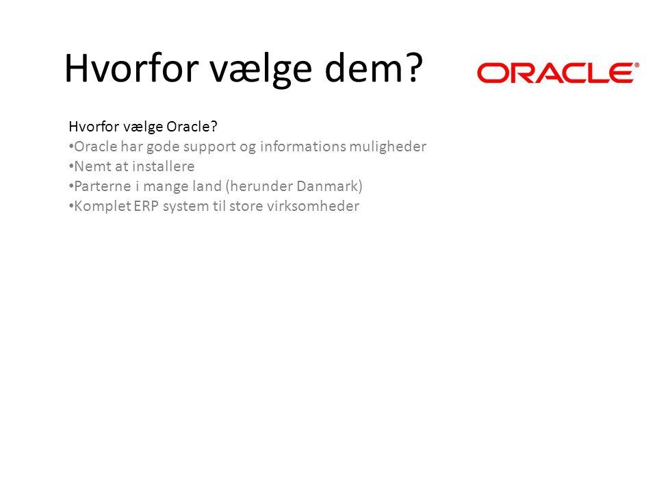 Hvorfor vælge dem Hvorfor vælge Oracle