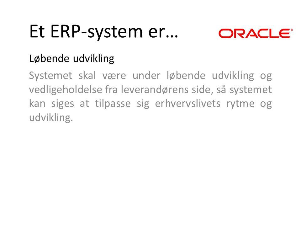 Et ERP-system er… Løbende udvikling