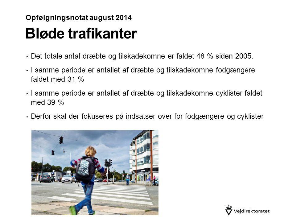 Bløde trafikanter Opfølgningsnotat august 2014