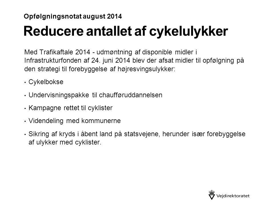 Reducere antallet af cykelulykker