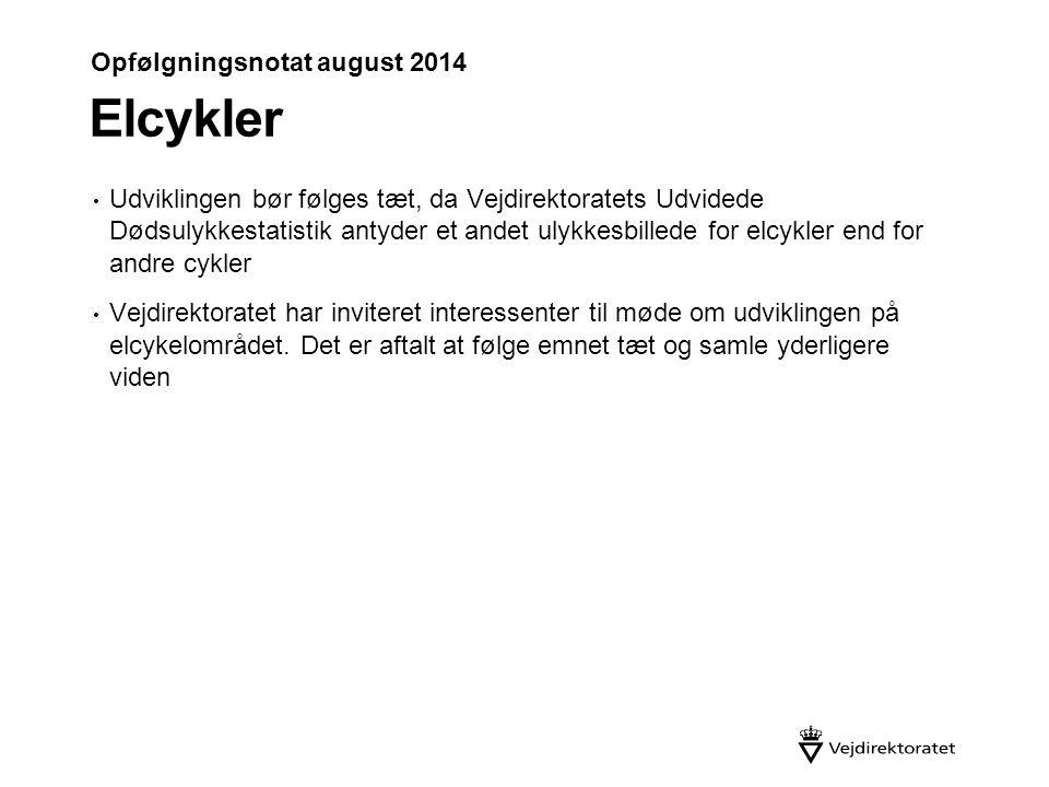 Elcykler Opfølgningsnotat august 2014