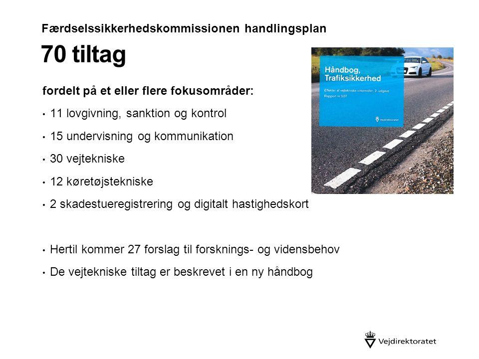 70 tiltag Færdselssikkerhedskommissionen handlingsplan