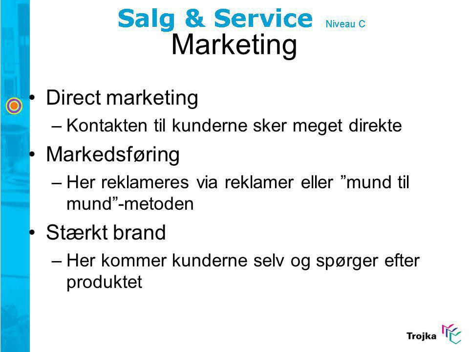 Marketing Direct marketing Markedsføring Stærkt brand