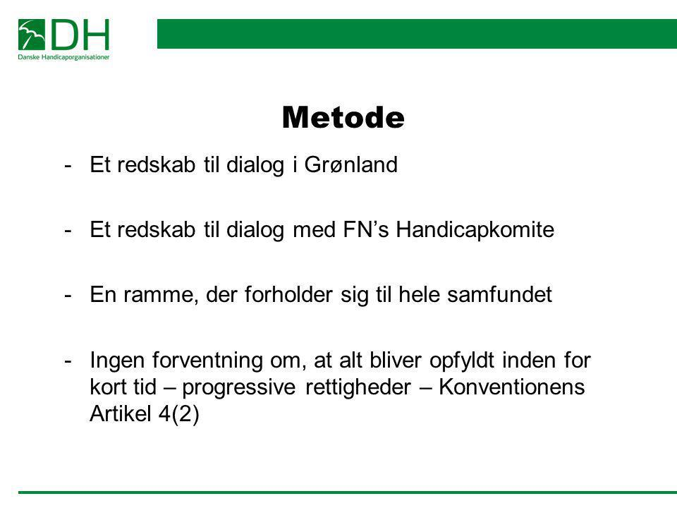 Metode Et redskab til dialog i Grønland