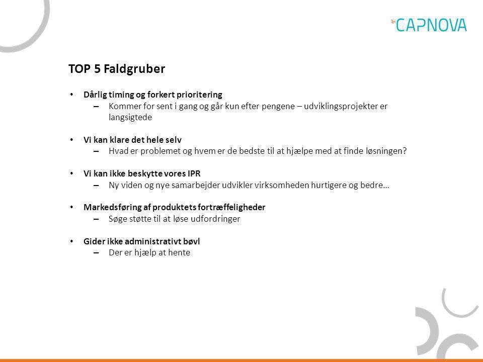 TOP 5 Faldgruber Dårlig timing og forkert prioritering