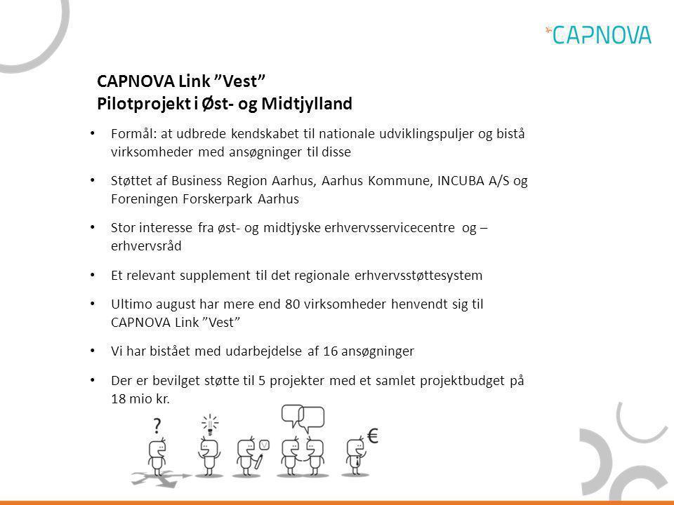 CAPNOVA Link Vest Pilotprojekt i Øst- og Midtjylland