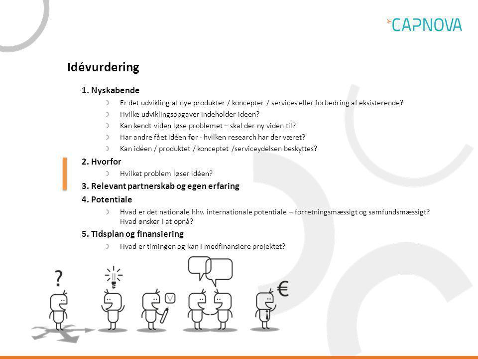 Idévurdering 1. Nyskabende 2. Hvorfor