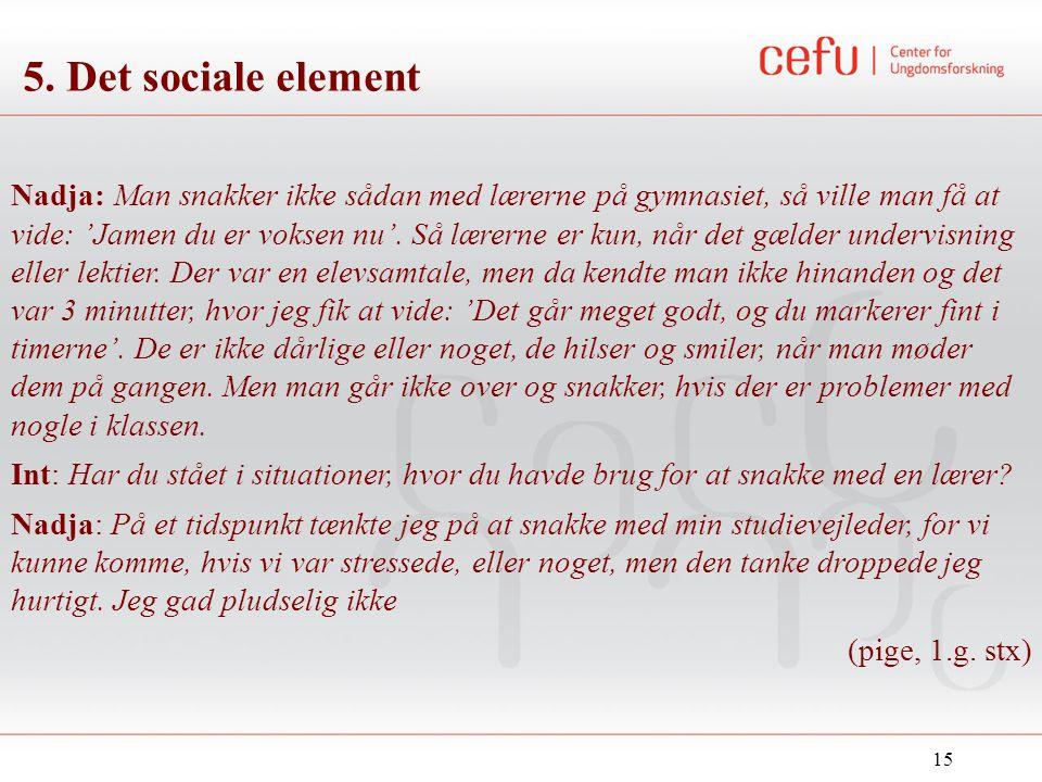 5. Det sociale element
