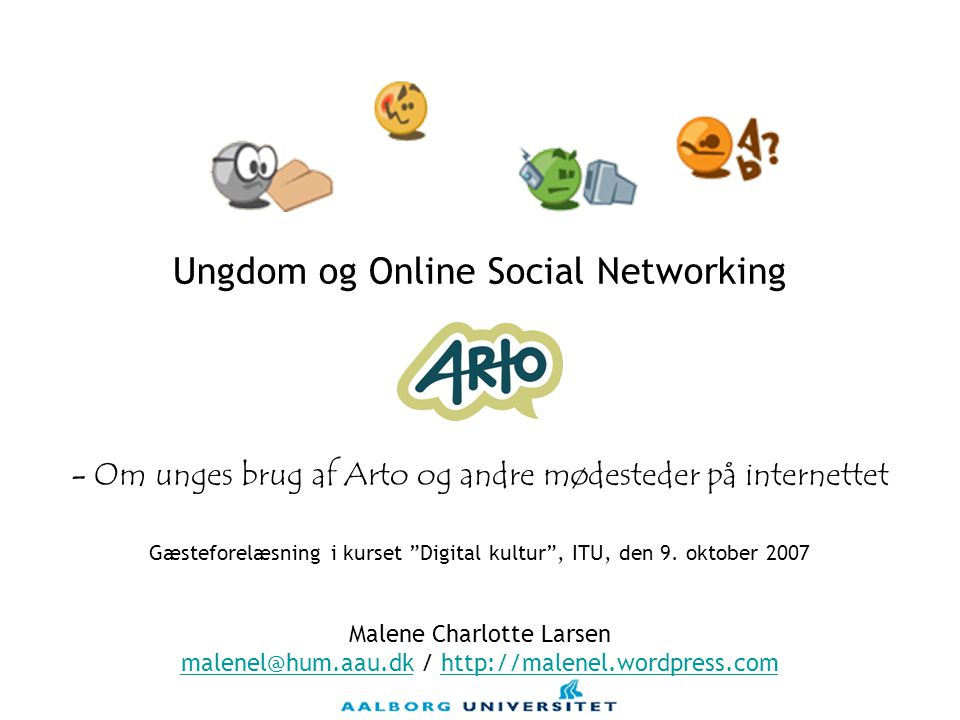 Ungdom og Online Social Networking