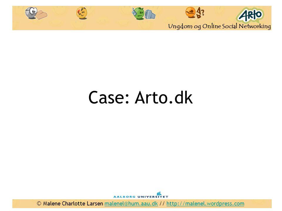 Case: Arto.dk Inden går i gang - starte med at spørge: Hvor mange af jer kender Arto Eller har hørt om Arto