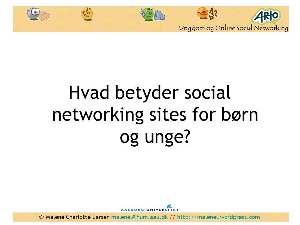 Hvad betyder social networking sites for børn og unge