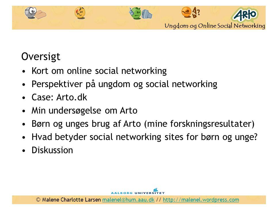 Oversigt Kort om online social networking
