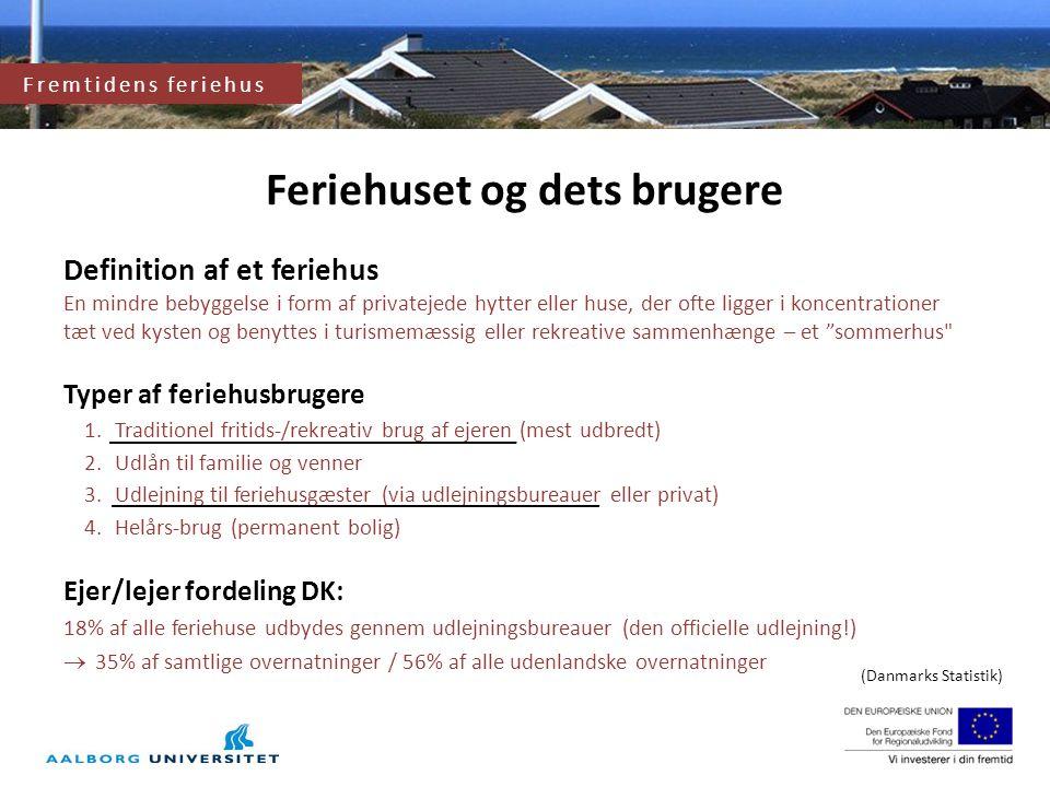 Fremtidens feriehus og feriehusområde Feriehuset og dets brugere