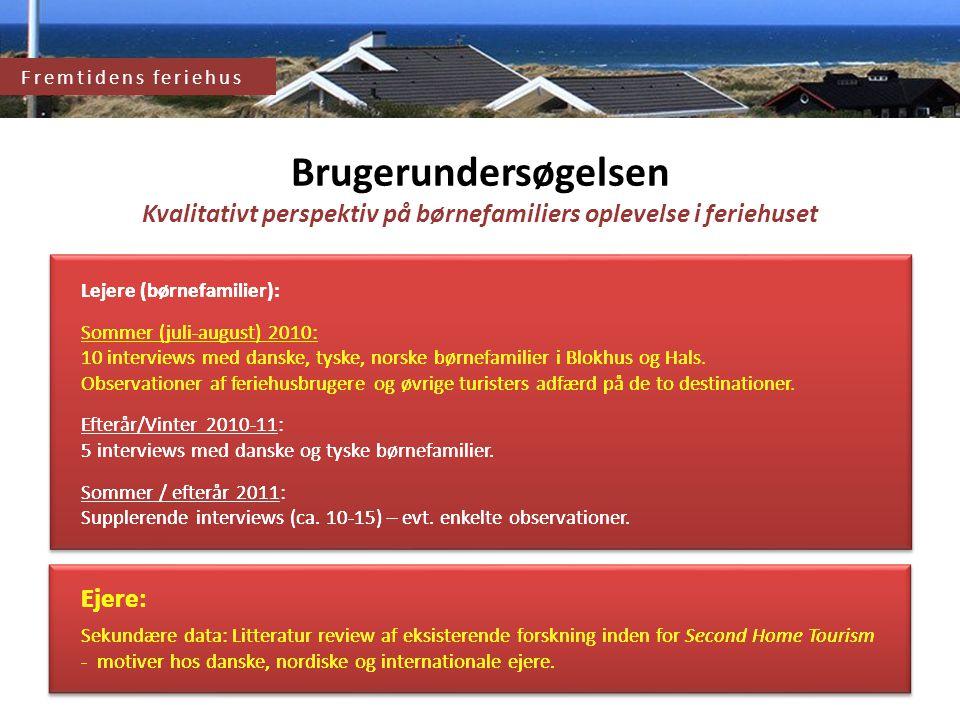 Fremtidens feriehus og feriehusområde Brugerundersøgelsen
