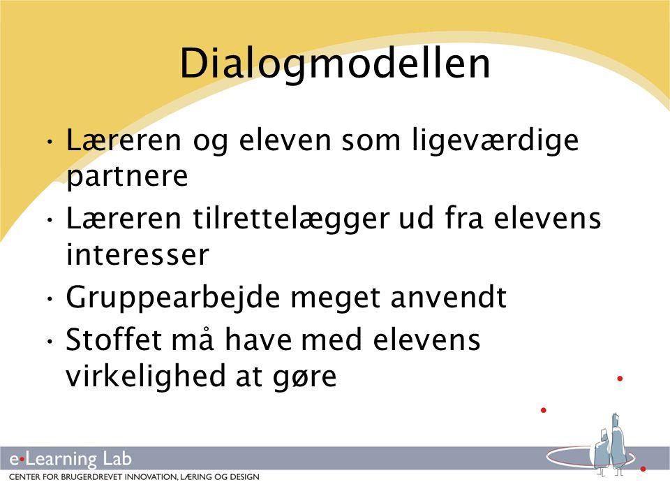 Dialogmodellen Læreren og eleven som ligeværdige partnere