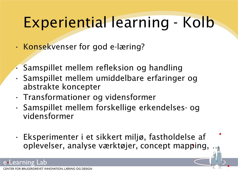 Experiential learning - Kolb
