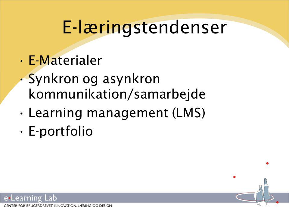 E-læringstendenser E-Materialer