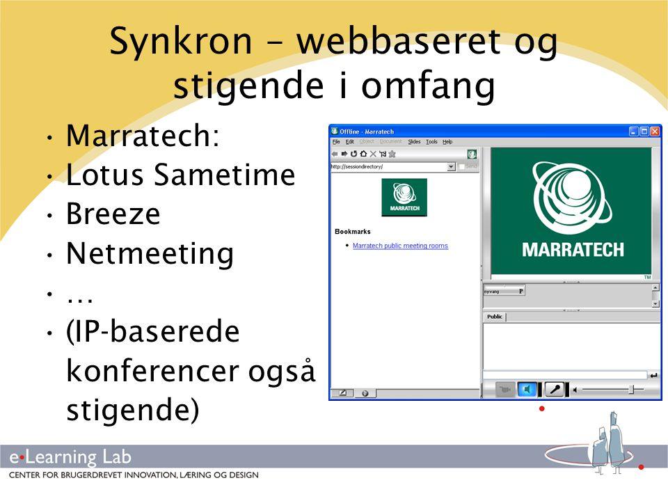 Synkron – webbaseret og stigende i omfang