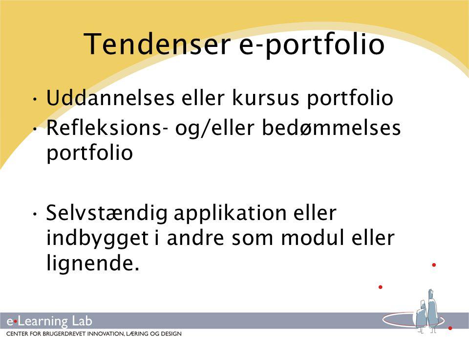 Tendenser e-portfolio