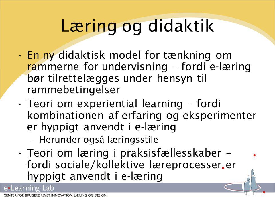 Læring og didaktik