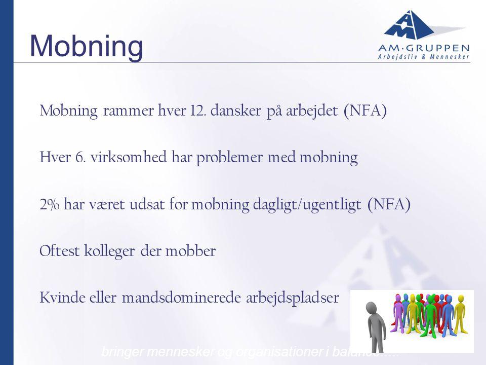 Mobning Mobning rammer hver 12. dansker på arbejdet (NFA)