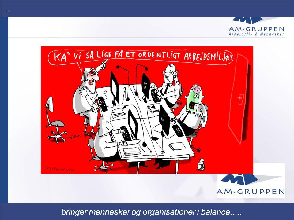 bringer mennesker og organisationer i balance.....