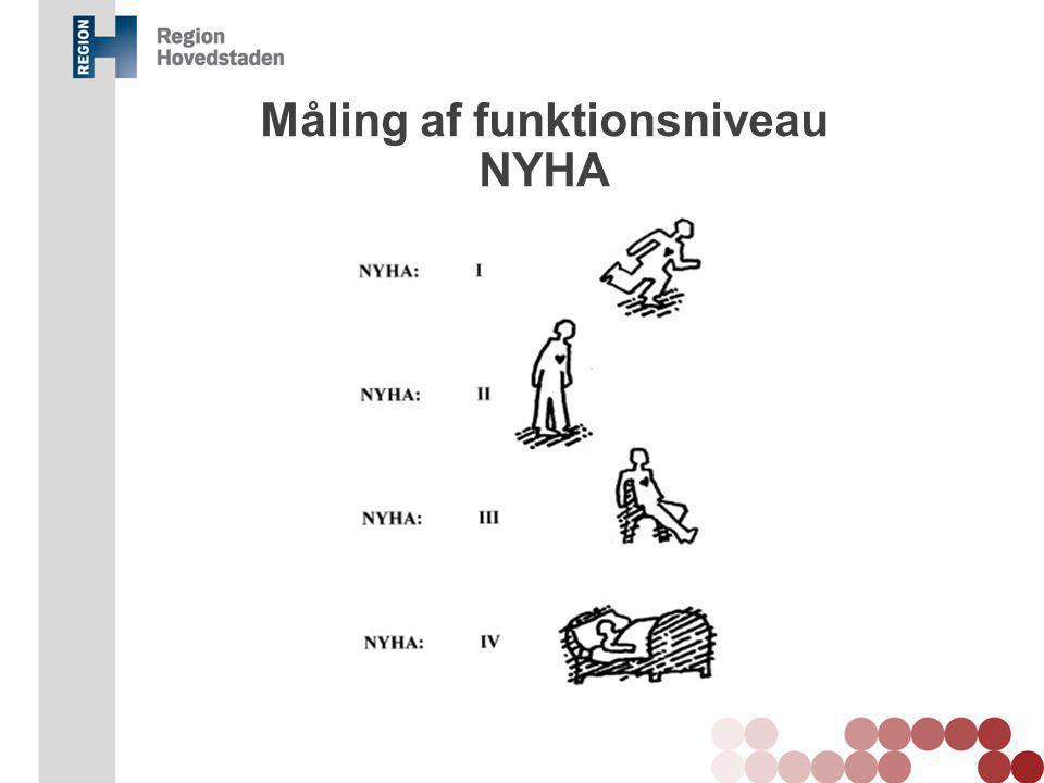 Måling af funktionsniveau NYHA