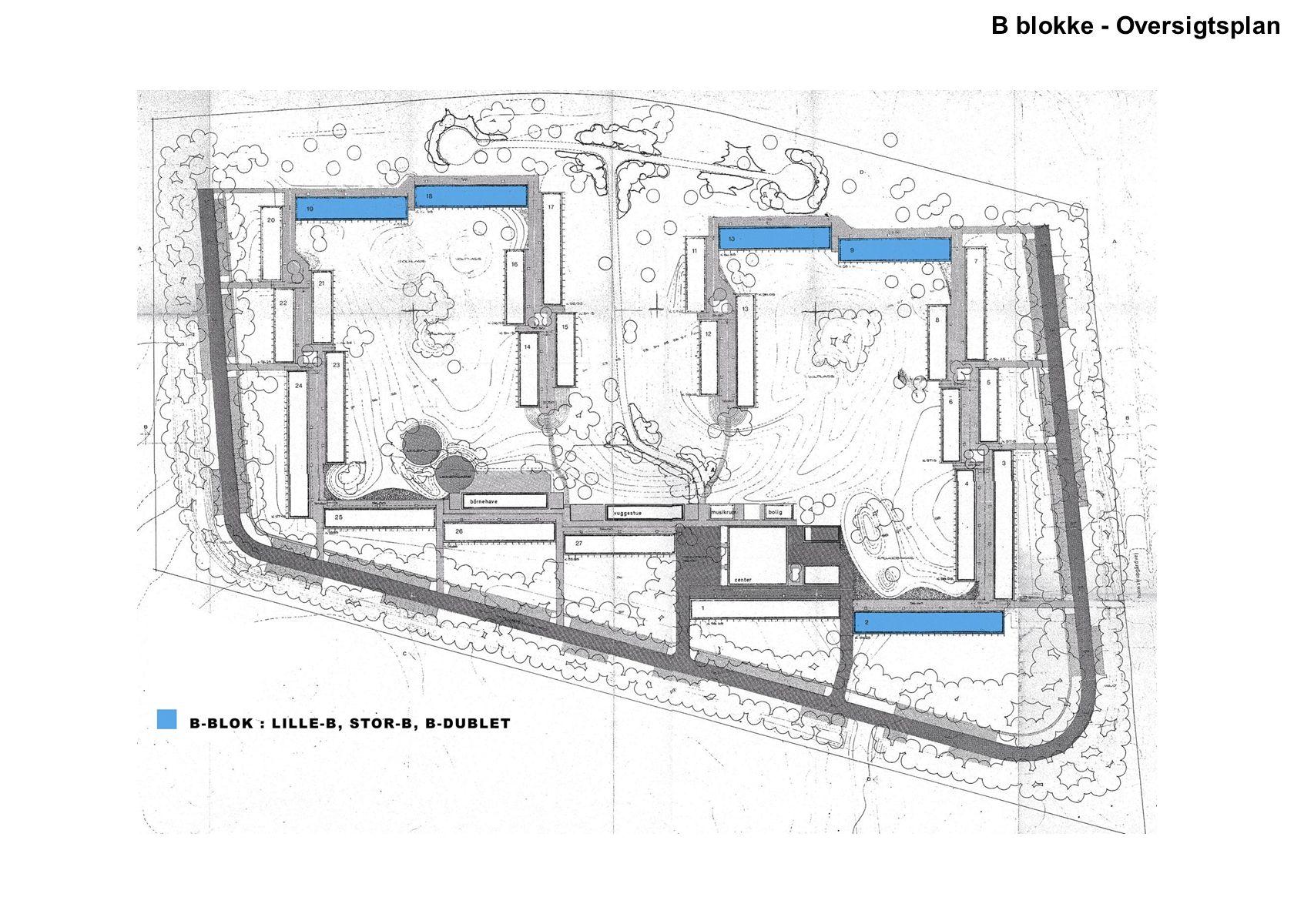B blokke - Oversigtsplan