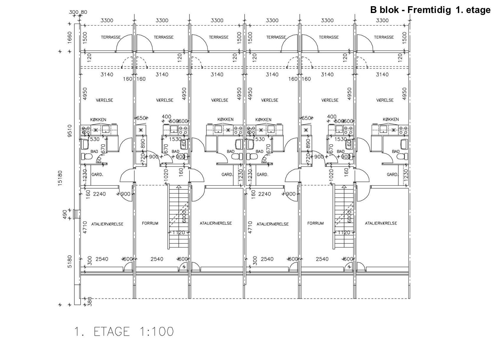 B blok - Fremtidig 1. etage
