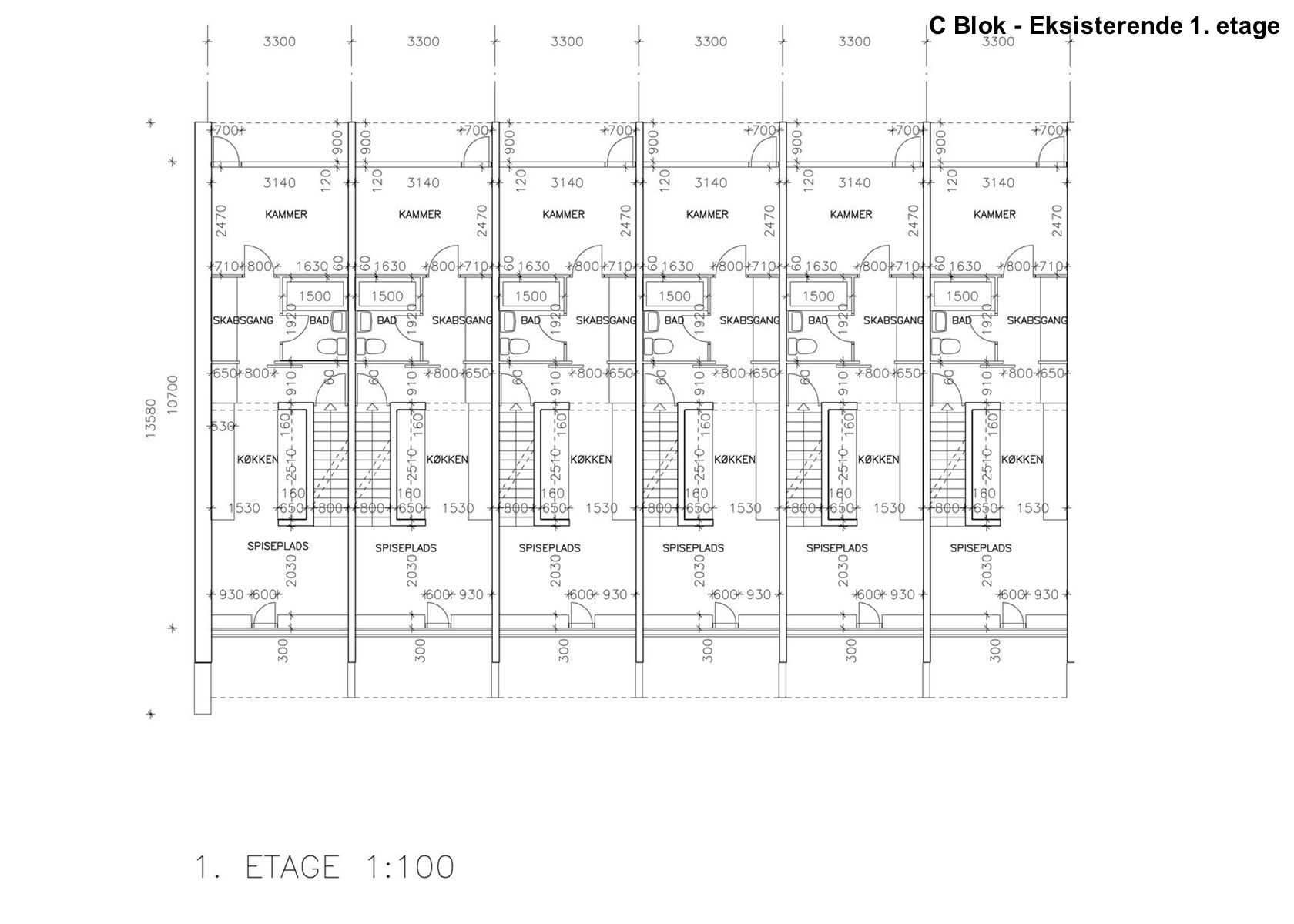 C Blok - Eksisterende 1. etage