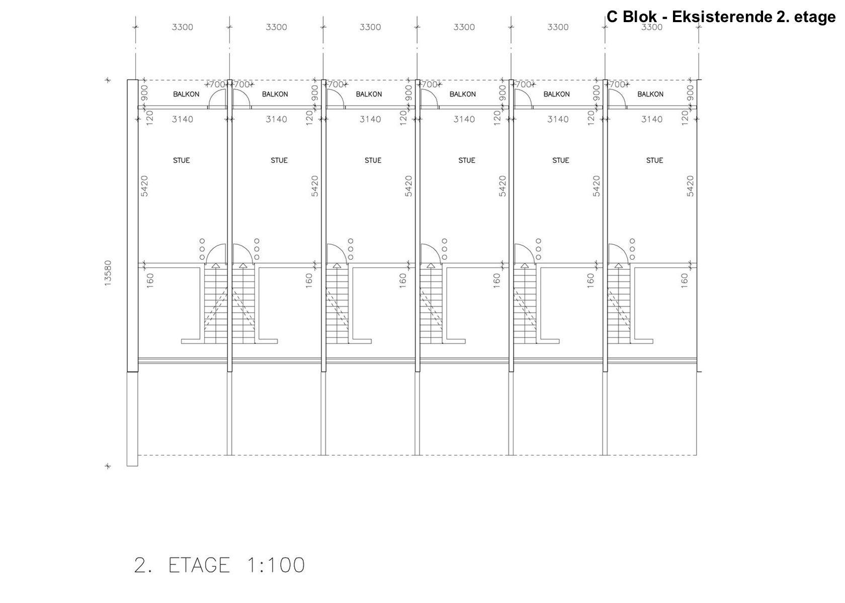 C Blok - Eksisterende 2. etage